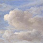 Photo d'une représentation d'un ciel bleu nuageux
