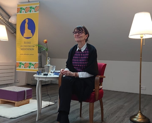 Photo de Marie-Laurence Cattoire, enseignant au centre de l'École de méditation à Nantes