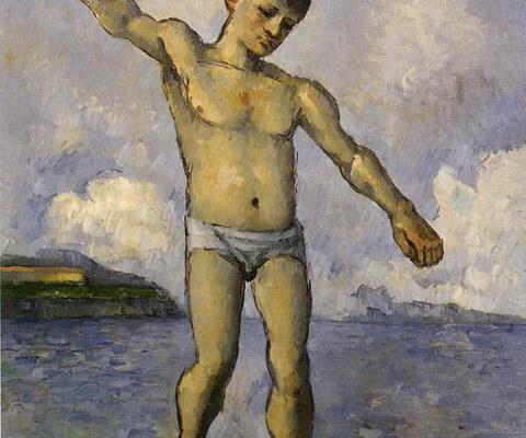 """Image de la peinture """"Homme debout, les bras étendus"""", de Cézanne"""