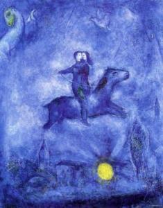 """Image du tableau de Chagall """"Le cheval d'ébène"""" (1946)"""
