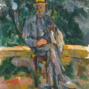 """Image du tableau """"Homme assis"""" de Cézanne"""