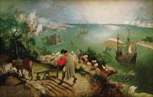 """Image du tableau """"La chute d'Icare"""" de Pieter Bruegel de Oude"""
