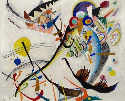 Vassily Kandinsky, Segment bleu, (1921, huile sur toile, New York, Solomon R. Guggenheim Museum)