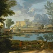 Peinture, huile sur toile, un temps calme et serein