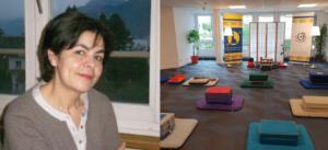 Latifa Grasset et la salle de pratique de Lausanne
