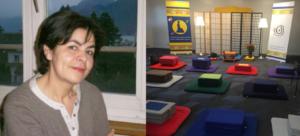 Latifa Grasset et la salle de pratique